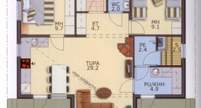 Проект каркасного дома 98-14