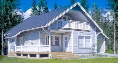 Проект каркасного дома 156-14