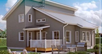 Проект каркасного дома 206-13
