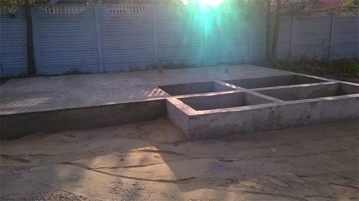 ленточный фундамент с утеплённой бетонной стяжкой
